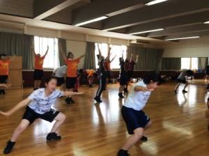 ダンス部夏合宿1