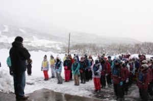 スキー教室開校式 講習のはじまりです